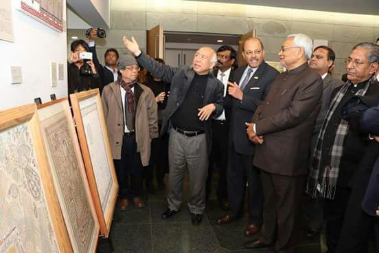 The Bihar CM also inaugurated an exhibition of Mithila painting in Vivekanand Mithila Cultural Centre at the Embassy of India in Tokyo